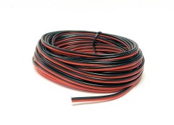 Red/Black Twinned Wire 10m (14 x 0.15mm)
