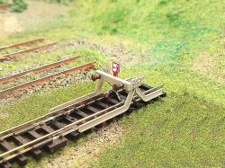N Lit Buffer Stop on Track