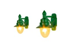 Wall Mounted Swan Neck Lamps SR/BR Green (2)