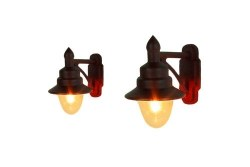 Wall Mounted Swan Neck Lamps LMS Maroon (2)