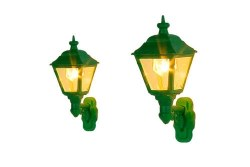 Wall Mounted Gas Lamps BR/SR Green (2)