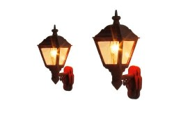 Wall Mounted Gas Lamps LMS Maroon (2)