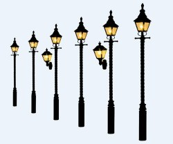 Barley Twist Gas Lamps Soft Black (Value Pack)