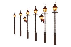Barley Twist Gas Lamps LMS Maroon (Value Pack)