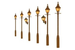 Barley Twist Gas Lamps GWR Stone (Value Pack)