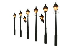 Taper Post Gas Lamps Soft Black (Value Pack)