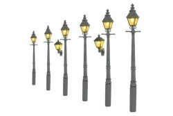 Taper Post Gas Lamps Grey Undercoat (Value Pack)