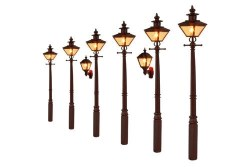 Taper Post Oil Lamps LMS Maroon (Value Pack)