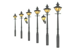 Taper Post Oil Lamps Grey Undercoat (Value Pack)