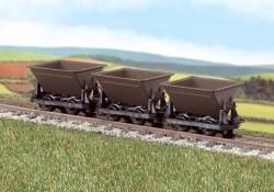 """Hudson """"Rugga"""" V Skip Tipping Wagons - Brown - Pack of 3"""