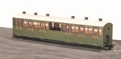 Lynton and Barnstaple Railway Centre Observation Coach SR Livery No 2466