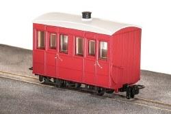 GVT 4-Wheel Enclosed Side Coach, Plain Red