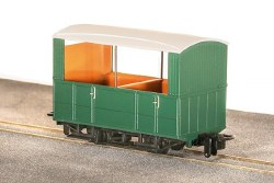 GVT 4-Wheel Open Side Coach, Plain Green