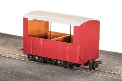 GVT 4-Wheel Open Side Coach, Plain Red