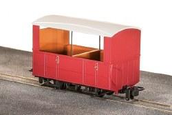 GVT 4-Wheel Open Side Coach, Plain Red