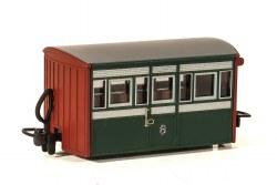 Ffestiniog Railway 'Bug Box' 4 Wheel Coach Early Preservation Livery, 3rd Class