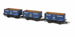 7 Plank Open Coal Wagons BP (British Petroleum) (Pack of 3)