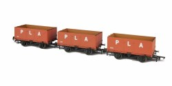 7 Plank Open Coal Wagons PLA (Port of London Authority) (Pack of 3)