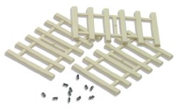 Moulded Concrete Type Sleepers and separate rail fixings