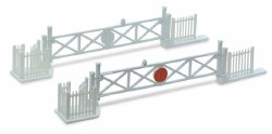 Level Crossing Gates 4 with Wicket Gates and Fencing