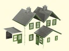 Kit 2 Slate Roofs Ridge Tiles Flat Roofs Chimneys etc.