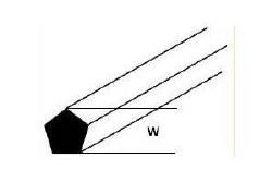 Pentagon Rod MRP-20 W:0.5mm Length:250mm (Pack of 10)
