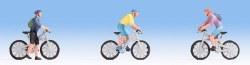 Mountain Bikers Figure Set (3) (HO Scale)