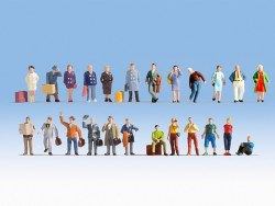 XL Figure Set - Travellers (24) (HO Scale)