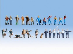 XL Figure Set - At Work (24) (HO Scale)