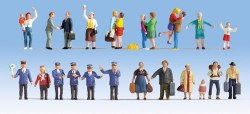 """At The Station"" XL Figure Pack (24) (HO Scale)"