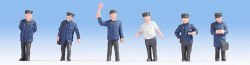 Hobby Figures - Railway Officials Figure Set (6) (HO Scale)