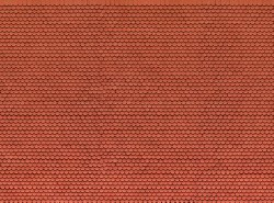 Plain Red Tile 3D Cardboard Sheet 25 x 12.5cm