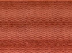 Plain Red Tile 3D Cardboard Sheet 25 x 12.5cm