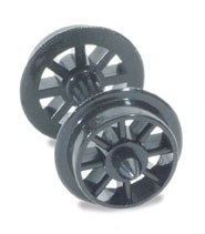 Spoked Wheels on axles Hardlon mouldings