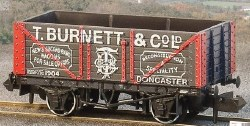 10ft Wheelbase Coal, 7 Plank 'T Burnett & Co Ld'