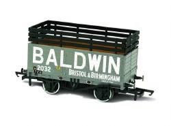 7 Plank Mineral Wagon 'Baldwin' 2032 Grey (3 Coke Rails)