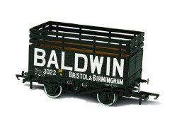 7 Plank Mineral Wagon 'Baldwin' 3022  Black (3 Coke Rails)