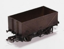 7 Plank Mineral Wagon BR Grey P73162 Weathered