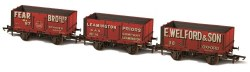 7 Plank Wagon 'Fear Bros' 87, 'Leamington Priors' 14 and 'E Welford & Son, Oxford' 38 Triple Pack Weathered