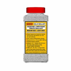1.4 Kg (3 lbs) Authentic Limestone Ballast HO/OO (Light Grey)
