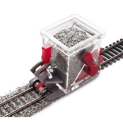 HO/OO Scale Ballast  Spreader Car w/Shut Off and Height Adjustment