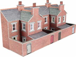Low Relief Terrace House Backs Red Brick