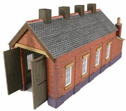 Single Track Engine Shed Red Brick