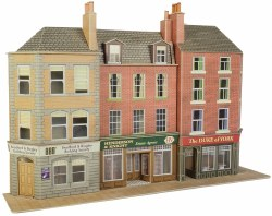 OO/HO Gauge Low Relief Pub and Shops