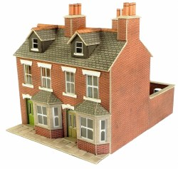 OO/HO Gauge Red Brick Terraced Houses Kit