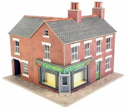 OO/HO Gauge Red Brick Corner Shop Kit