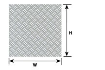 Pattern Sheet PS-150 Double Diamond plate Scale:1:24 W:175mm L:275mm (Pack of 2)
