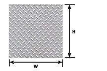 Pattern Sheet PS-152 Diamond plate Scale:1:48 W:175mm L:275mm (Pack of 2)