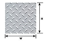 Pattern Sheet PS-154 Diamond plate Scale:1:16 W:175mm L:275mm (Pack of 2)