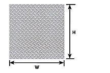 Pattern Sheet PS-155 Diamond plate Scale:1:100 W:175mm L:275mm (Pack of 2)